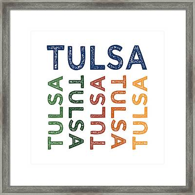 Tulsa Cute Colorful Framed Print by Flo Karp