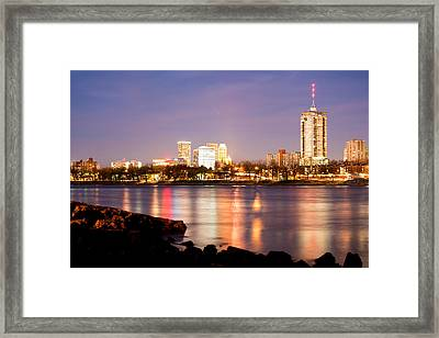 Tulsa Oklahoma From The Shoreline Framed Print by Gregory Ballos