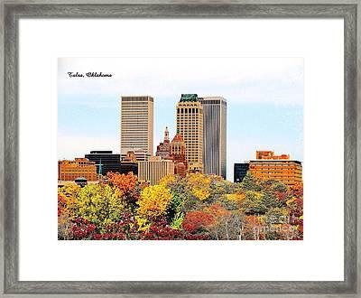 Tulsa Oklahoma In Autumn Framed Print
