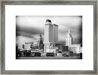 Tulsa Rising Framed Print by John Rizzuto