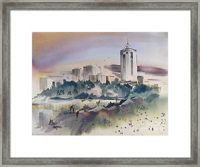 Tulsa Skyline Framed Print by Micheal Jones