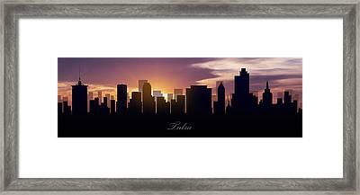 Tulsa Sunset Framed Print by Aged Pixel