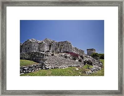 Tulum Mayan Ruins 10 Framed Print