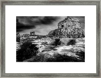 Tulum Ruin Framed Print by Julian Cook