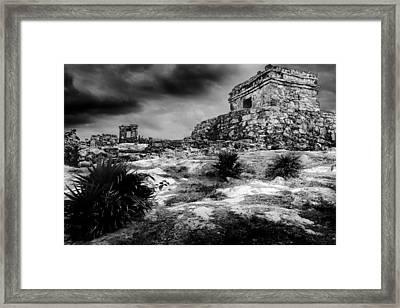 Tulum Ruin Framed Print