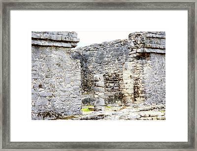 Tulum Ruins 1 Framed Print