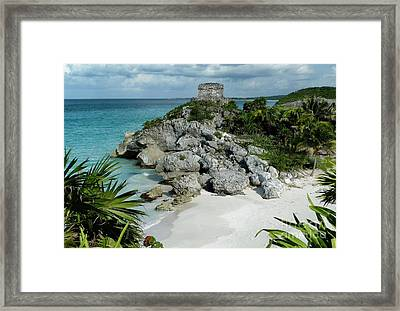 Framed Print featuring the photograph Tulum Ruins In Mexico by Polly Peacock