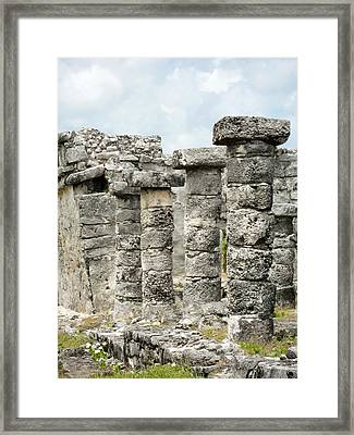 Framed Print featuring the photograph Tulum by Silvia Bruno