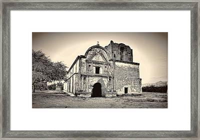 Framed Print featuring the photograph Tumacacori  Mission ... by Chuck Caramella