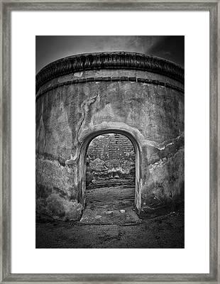 Tumacacori Mission Retreat ... Framed Print by Chuck Caramella