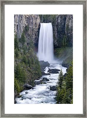 Tumalo Falls Framed Print