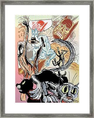 Tumble Cats Framed Print