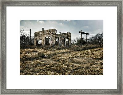 Tumble Down Framed Print by Joan Carroll