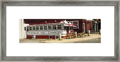 Tumble Inn Diner Claremont Nh Framed Print by Edward Fielding