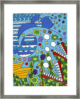 Tumbled Framed Print by Rojax Art