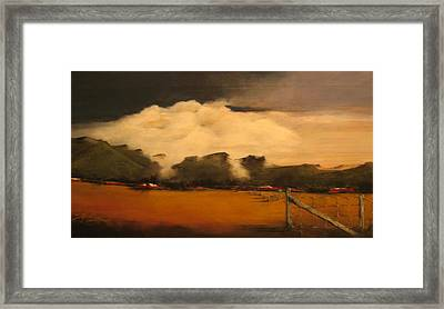 Tumbling Clouds Framed Print