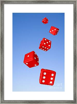 Tumbling Dice And Sky Framed Print