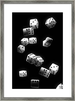 Tumbling Dice Framed Print by Tom Mc Nemar