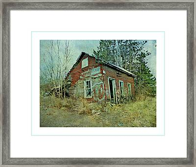 Tumbling Down Framed Print by Dianne  Lacourciere