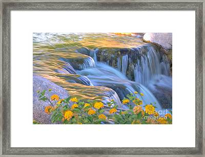 Tumbling Waters Framed Print by Deb Halloran
