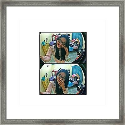 #tumblr #girl #instagram #yolo Framed Print