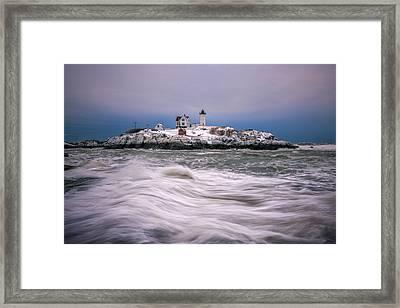 Tumultuous Seas Framed Print by Matthew Milone