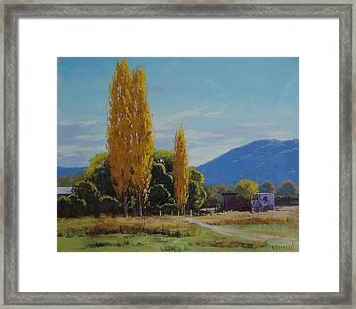 Tumut Farm Framed Print by Graham Gercken