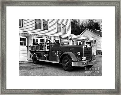Tumwater Fire Truck Framed Print by Merle Junk