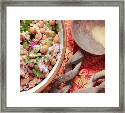 Tuna And Bean Salad Framed Print