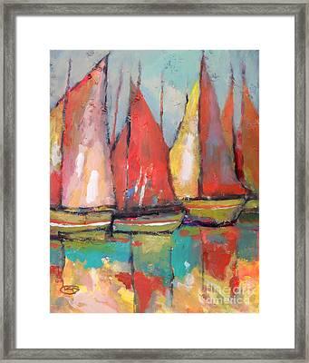 Tuna Boats Framed Print by Kip Decker