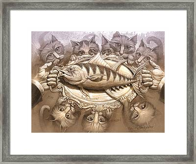 Tuna On A Silver Platter Framed Print by Jeff Haynie