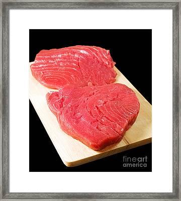 Tuna Steaks Framed Print by Sinisa Botas