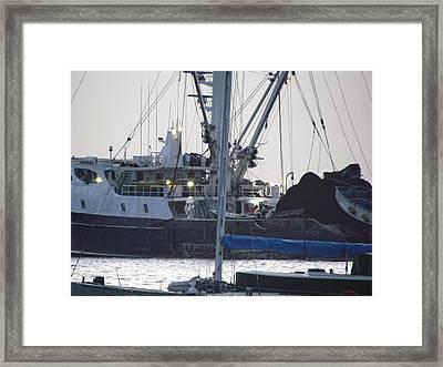 Tunaboat Sunrise Framed Print