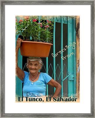 Tunco Card Abuelita Framed Print by Stav Stavit Zagron