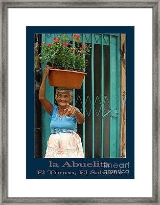 Tunco Card Llevo Plantas Blu Framed Print by Stav Stavit Zagron