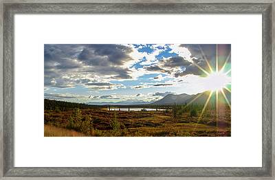 Tundra Burst Framed Print by Chad Dutson