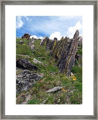 Tundra Rocks Framed Print