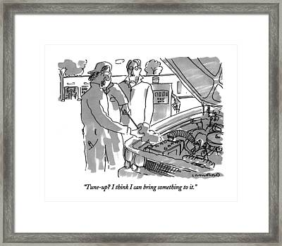 Tune-up?  I Think I Can Bring Something To It Framed Print by Michael Crawford