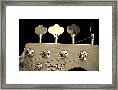 Fender Precision Bass Framed Print by Chris Berry