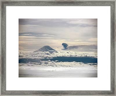 Tungurahua Volcano Erupting Framed Print by Nasa