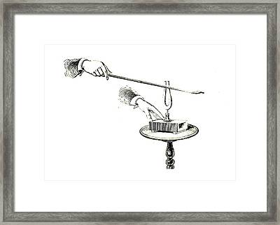 Tuning Fork Experiment Framed Print by Universal History Archive/uig