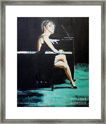 Tuning Out Framed Print