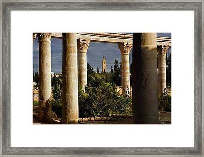 Tunisia. El Djem. Archeological Framed Print