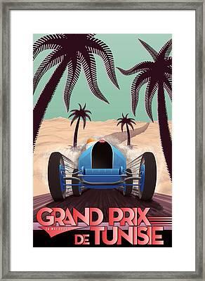 Tunisia Grand Prix 1933 Framed Print by Georgia Fowler