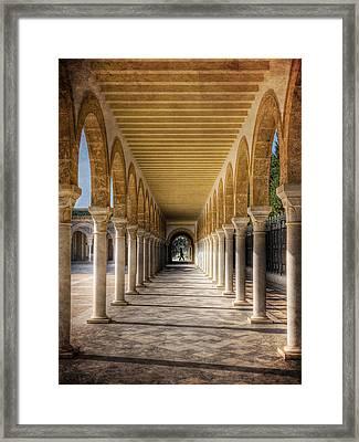 Framed Print featuring the photograph Tunisian Arches / Monastir by Barry O Carroll