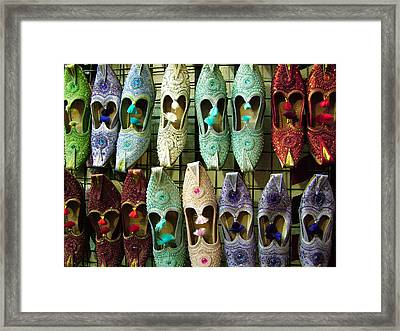 Framed Print featuring the photograph Tunisian Shoes by Donna Corless