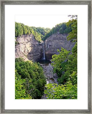 Framed Print featuring the photograph Tunkhannock Falls 2 by Tom Doud