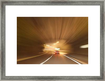 Tunnel 1704-51 Framed Print by Deidre Elzer-Lento
