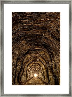 Tunnel 3 On Elroy To Sparta Bike Trail Wisconsin Framed Print