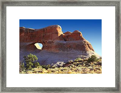 Tunnel Arch - Arches National Park Framed Print by Mike McGlothlen